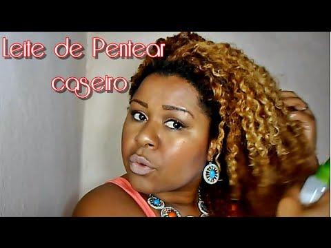 DIY: LEITE PARA PENTEAR/UMIDIFICADOR de CACHOS caseiro  -