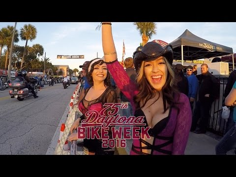 Daytona Bike Week 2016 Main St Walk - Raw Footage