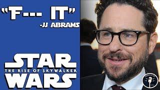 """JJ Abrams Says """"F--- it."""" to Star Wars"""