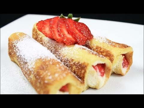 Strawberry French Toast Roll Ups - YouTube