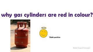 Why gas cylinders are red in colour????