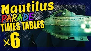 Nautilus Submarine Teaching Multiplication Times Tables x6 Educational Math Video for Kids