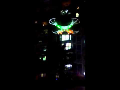 NIGHT LIONS TECH---large size quadcopter Monster Dron N7C night flying review 7