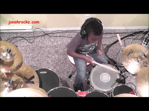 Black Eyed Peas - Pump It, 8 Year Old Drummer, Jonah Rocks. video
