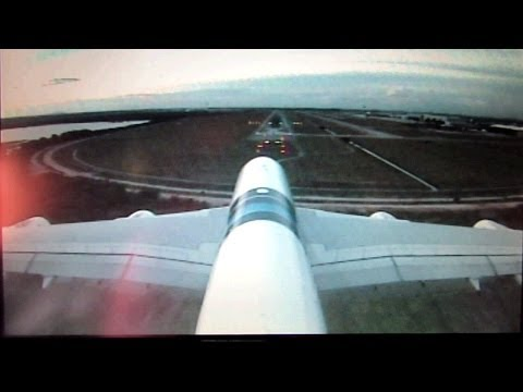 Malaysia Airlines MH AirBus A380-800 landing @ Kuala Lumpur International airport - Skycam