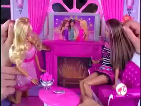 2009 barbie princesse Pink World 3 Story Dream Townhouse Commercial...