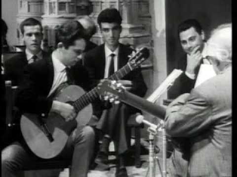 Andrés Segovia (Master Class 1965) with Miguel Barbera (part 1)
