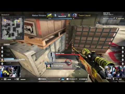 S1mple is ready for ESL One New York 2017 - AWP Fake Flash