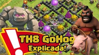Estrategia GoHog TH8 explicada!| Clash of Clans