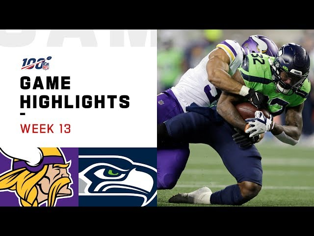 Vikings vs. Seahawks Week 13 Highlights | NFL 2019 thumbnail