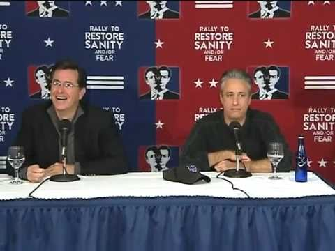 Jon Stewart & Stephen Colbert Sanity/Fear Press Conference