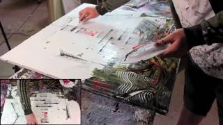 ► Abstract Art Action Painting HD Video - Spark by John Beckley