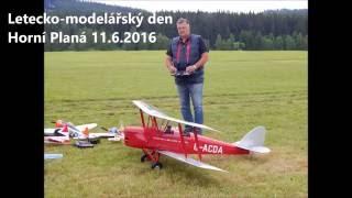 Letecko modelářský den Horní Planá 11.6.2016 - RC dvouplošník