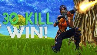 MY FIRST 30 KILL WIN! (MUST WATCH) - Fortnite Battle Royale