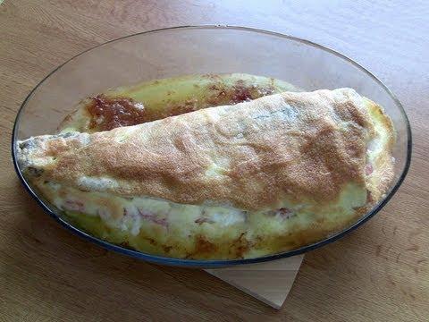 Merluza rellena de tortilla y salmon