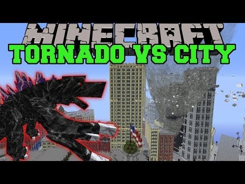 MOBZILLA & TORNADO MOD VS NEW YORK CITY - Minecraft Mods Vs Maps (Bosses, Deadly Weather) Music Videos