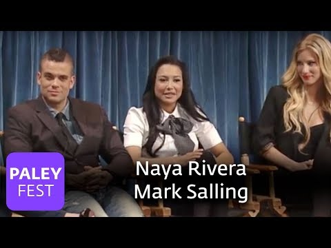 Glee - Naya Rivera And Mark Salling On Performing Original Music