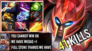 FULL STONE THANOS! EPIC Divine Rapier DK vs Megacreeps Most Craziest Game Comeback WTF Dota 2