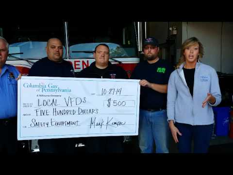 Columbia Gas donates to local fire departments