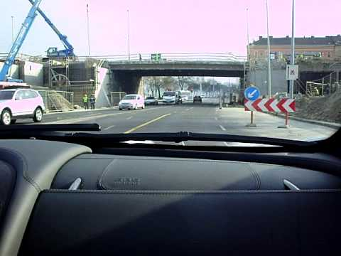 Mercedes SLR McLaren Roadster Sound and Acceleration in Budapest