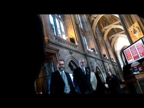 Merchant Venturers: wives enter Bristol Cathedral for Charter Day service November 2014