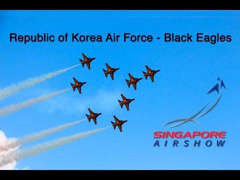 Singapore Airshow 2016 - Republic of Korea Air Force - Black Eagles