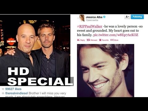 Paul Walker's Actor Friends React to His Death - Jessica Alba, Vin Diesel, The Rock