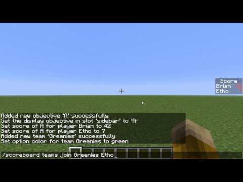 Tutorial: How to use the Minecraft 'scoreboard' display (no command blocks!)