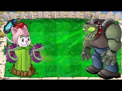 Plants vs Zombies Hack - Cactus Cattail Chomber vs Dr. Zomboss