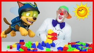 Clown and dog Rubble from Paw Patrol - Clown Bom PJ Masks - Lego dog