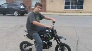 monster energy 110cc pitbike for sale!