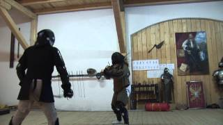 100 MWF, additional fight - Long sword vs. Falchion and Short sword