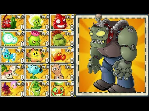 Plants vs Zombies 2 Final Boss - All Premium Plants Power-Up! vs All Zomboss Fight