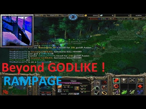 DotA 6.83d - Viper Beyond GODLIKE! + (RAMPAGE) NEW KILL RECORD