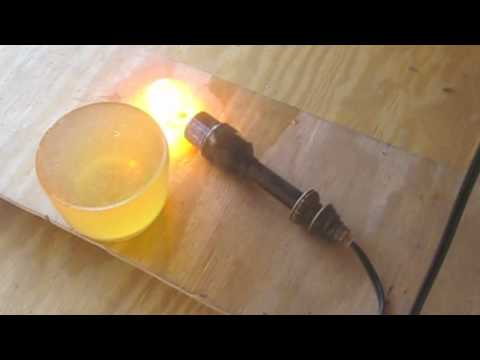 Can alcohol, lighter fluid, or gun powder injected in a bulb make it explode?