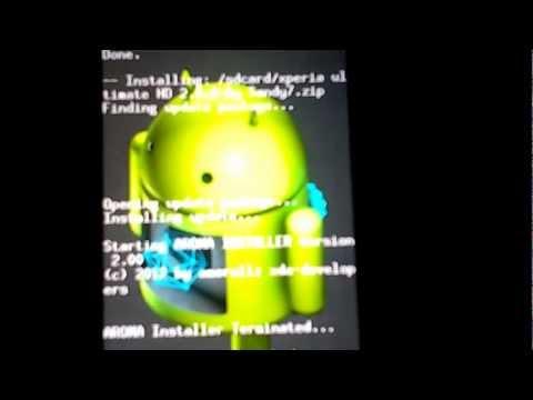 Como instalar una rom en Xperia Mini pro  ROMS(GB&ICS)