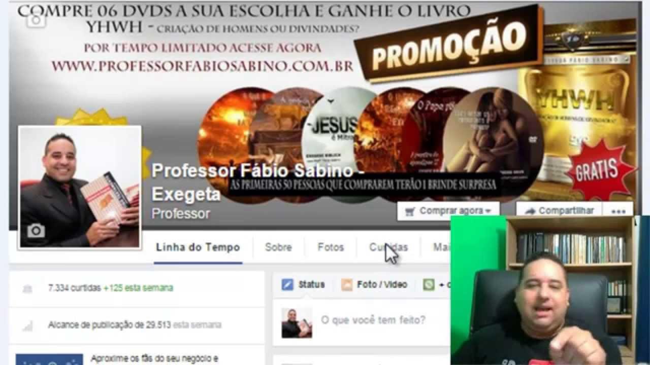Professor Fabio Sabino e as redes sociais.