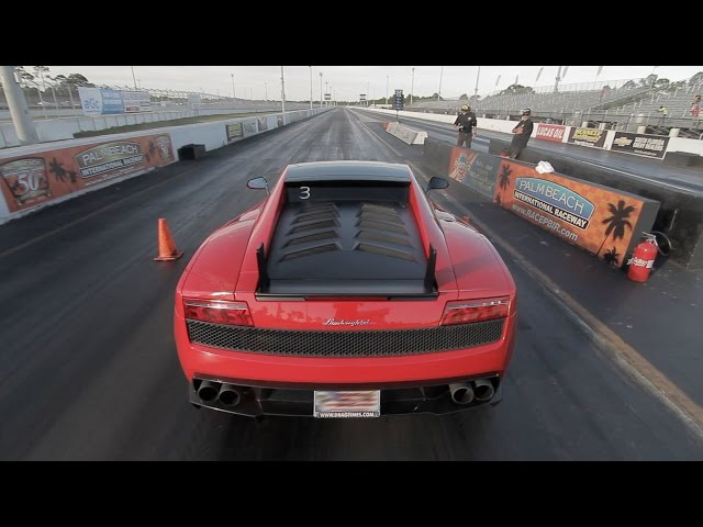 Lamborghini Gallardo LP570 Super Trofeo Stradale  11.1 @ 132 MPH 1/4 Mile Drag Racing vs BMW M4