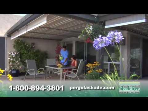 ShadeTree Canopy retractable awning: Free pergola DVD