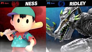 Ridley  vs. Ness - Super Smash Bros. Ultimate [Tournament Gameplay]