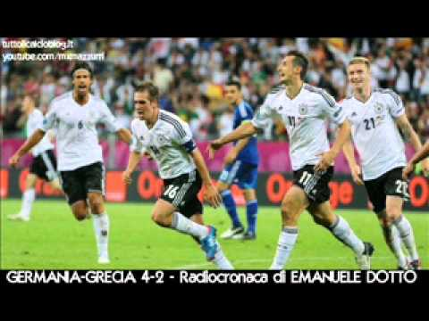 GERMANIA-GRECIA 4-2 – Radiocronaca di Emanuele Dotto – EURO 2012 su Radiouno RAI