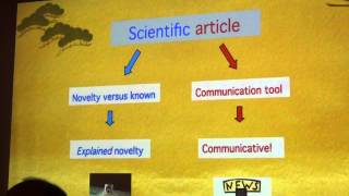 WRITING SCIENTIFIC ARTICLES (Part 3 of 18): What is a Scientific Article