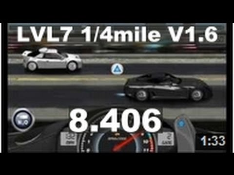 Drag Racing level 7 Ferrari Novitec Rosso 599 GTB 1/4 mile tune V1.6