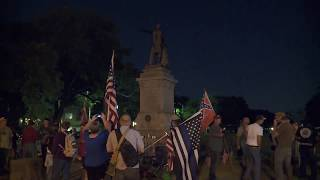 RAW VIDEO: Protesters clash at Confederate Monument in New Orleans