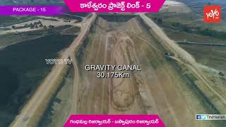 Presentation on Kaleshwaram Project Link 5 Work | Gandhamalla to Baswapuram | Telangana