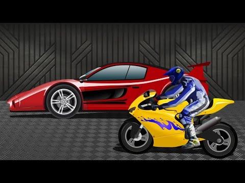 Sports Car VS Sports Bike | Race Video | Kids Racing Video