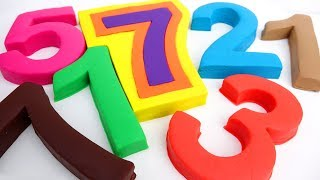 How To Make Giant Play Play Doh Numbers Modelling Clay Learn Colors Kids Video
