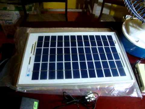 Solar panel installation in Chennai - 15w DC fan and 1w LED light - India