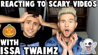 Download Lagu Reacting to CREEPY videos w/ ISSA TWAIMZ Gratis STAFABAND
