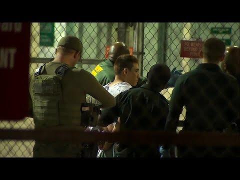 Moment Florida school shooting suspect taken to jail